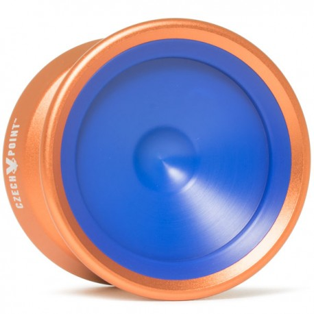 YoYoFactory CzechPoint Pivot Orange - Blue Caps