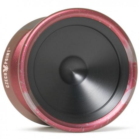 YoYoFactory CzechPoint Pivot Red / Grey Splash - Black Caps