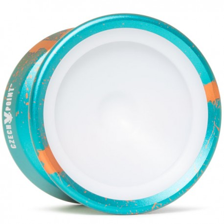 YoYoFactory CzechPoint Pivot Aqua / Orange - White Caps