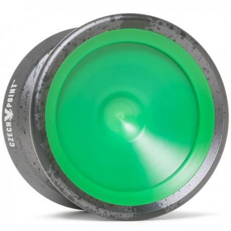 YoYoFactory CzechPoint Pivot Grey / Black Splash - Green Caps